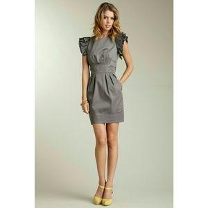 Jessica Simpson Gray Ruffle Sleeve Dress Size 12
